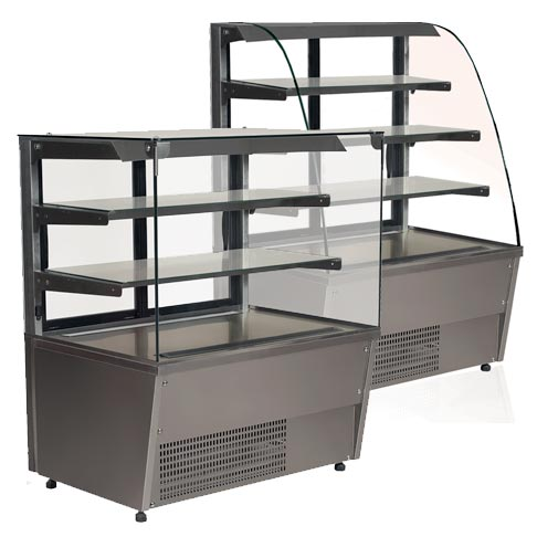 gastro serve over chilled food and beverage counter