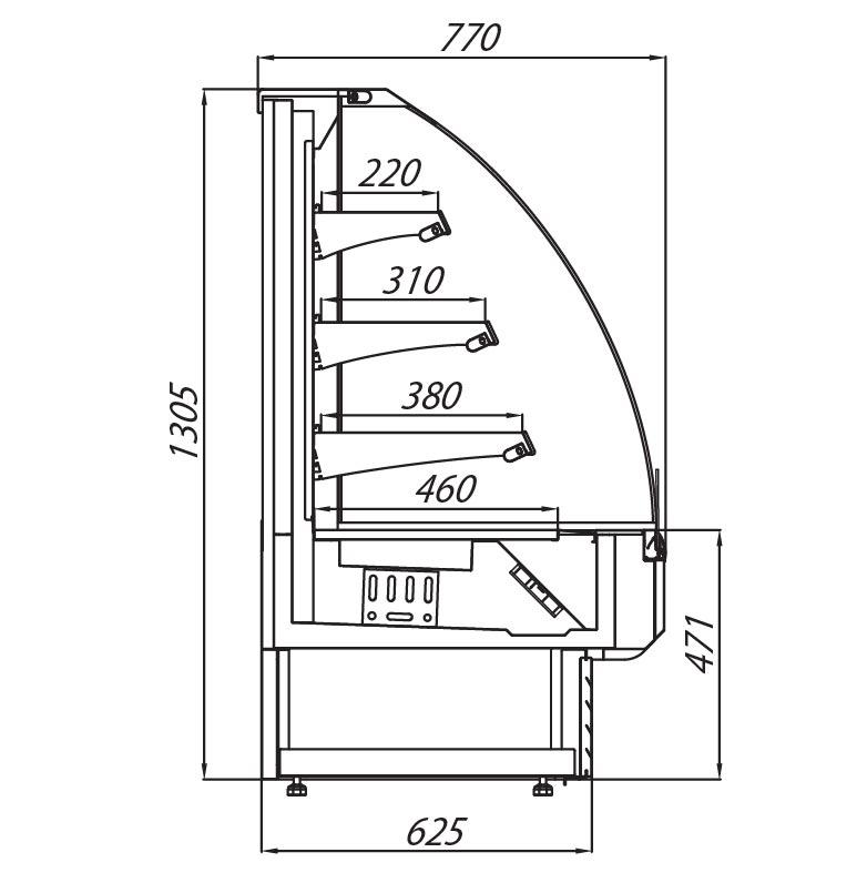 bergen o multi-deck technical drawing